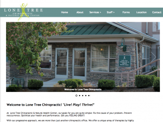 Lone Tree Chiropractic Website
